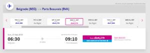 beograd pariz jeftine avio karte