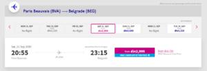 pariz beograd jeftine avio karte