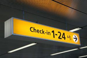 čekiranje na aerodromu
